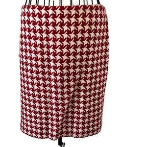 Talbots Petite Wool Blend Houndstooth Check Skirt